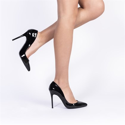 Jabotter Retro Siyah Rugan 11 Cm Stiletto